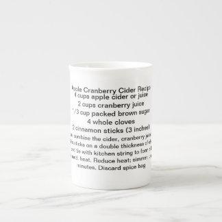 Taza de la sidra del arándano de Apple Tazas De Porcelana