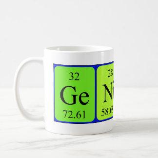 Taza de la tabla periódica del genio