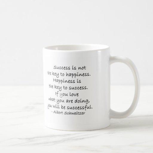 Taza de la taza de café de la cita del éxito y de
