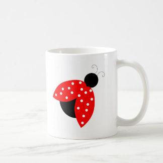 Taza de la taza de café de la mariquita
