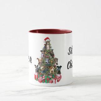 Taza de la taza del día de fiesta del navidad del