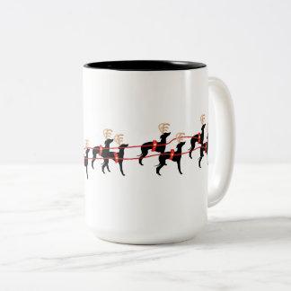 Taza de la taza del perro del navidad del galgo