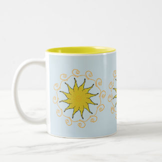 Taza de la taza del té del coffe de la sol