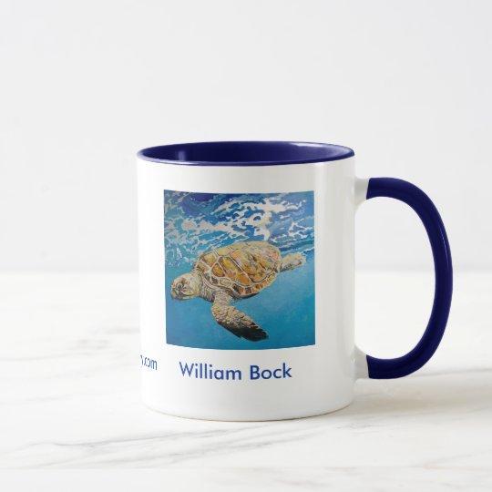 Taza de la tortuga de mar de Hawksbill