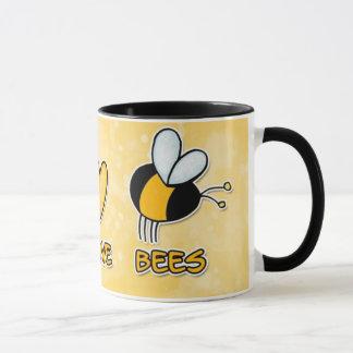taza de las abejas del amor de la paz