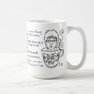 Taza de las citas del café y del té