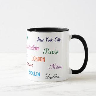 Taza de las ciudades del mundo