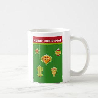 Taza de las decoraciones del navidad
