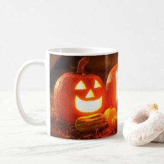 Taza de las linternas de Halloween Jack O
