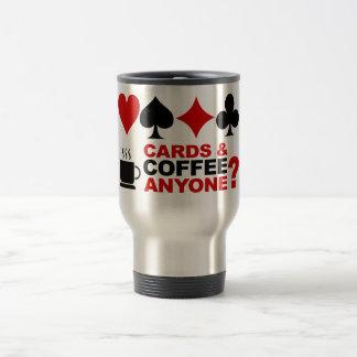 Taza de las tarjetas y de café