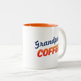 Taza de los azúcares del café dos para el abuelo