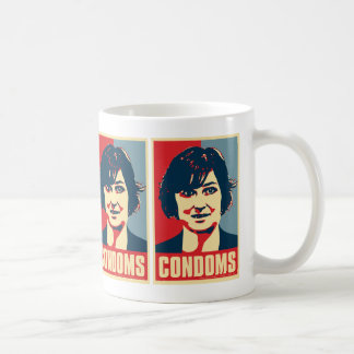 "Taza de los ""condones"" de la platija de Sandra"