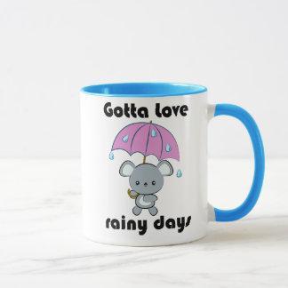 Taza de los días lluviosos del ratón y del