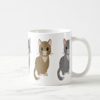 Taza de los gatos del dibujo animado
