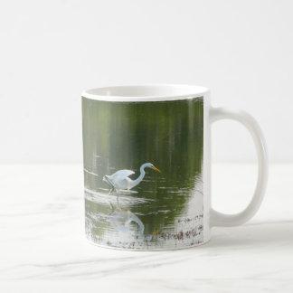 Taza de los pares de los Egrets