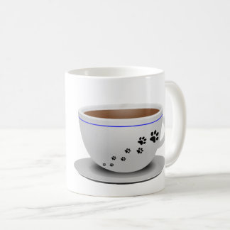 Taza de los perros y de café