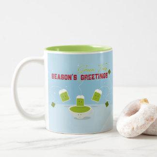 Taza de los tés verdes el | de la estación