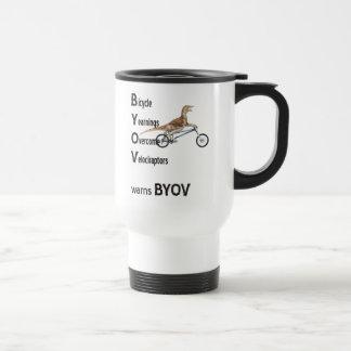 Taza de los Velociraptors de BYOV