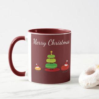 Taza de Macarons el | de las Felices Navidad