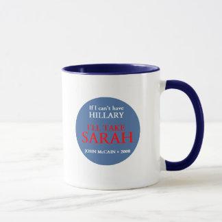 Taza de McCain Palin HILLARY