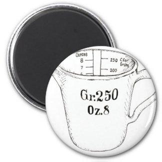 Taza de medición imán redondo 5 cm