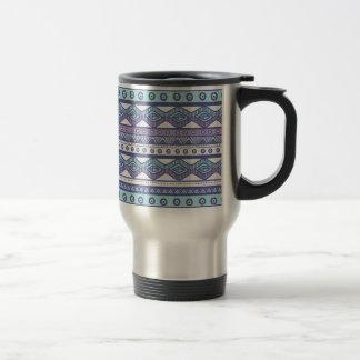 Taza de moda moderna elegante azteca azul púrpura