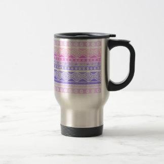 Taza de moda moderna elegante azteca púrpura