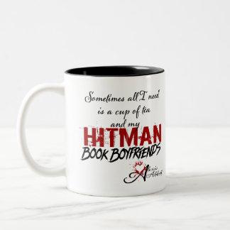 Taza de novios del libro del té y del Hitman