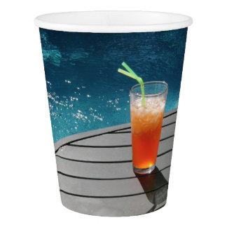Taza de papel de la fiesta en la piscina vaso de papel