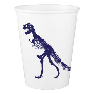 Taza de papel del dinosaurio vaso de papel
