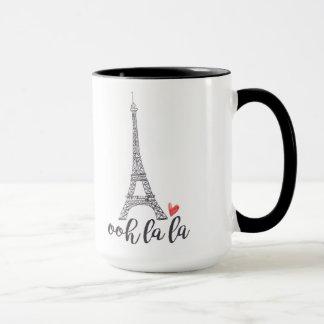 Taza de París del la del la de Ooh