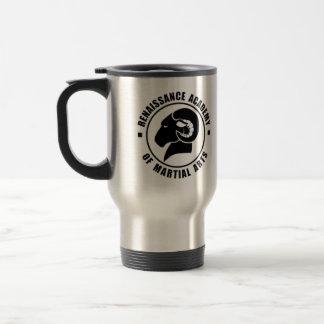 Taza de plata del viaje, logotipo negro de RAM