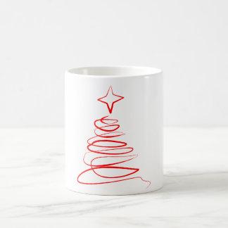 Taza de remolino del árbol de Navidad - rojo