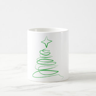 Taza de remolino del árbol de Navidad - verde