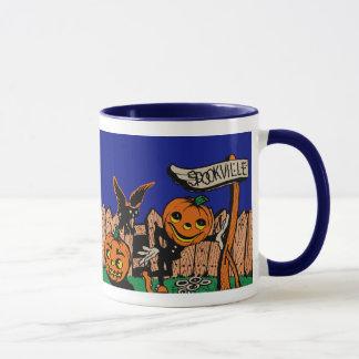 Taza de Spookville Halloween del vintage