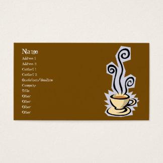 Taza de tarjeta de visita del café o del té