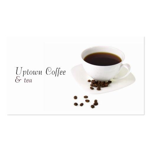 Taza de tarjeta de visita del café y del té