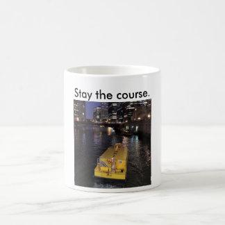 Taza de taxi del río Chicago que dice estancia el