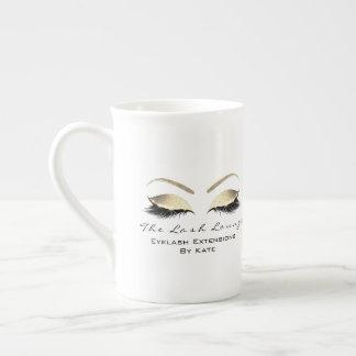 Taza De Té Blanco de marcado en caliente del oro del estudio