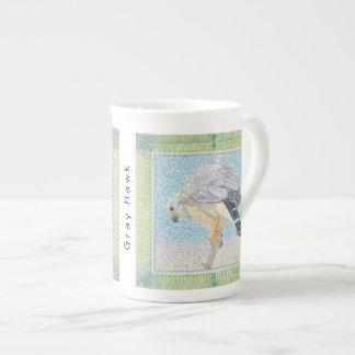 Taza De Té Café del halcón/taza grises del té