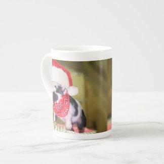 Taza De Té Cerdo Papá Noel - cerdo del navidad - cochinillo