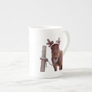 Taza De Té Ciervos del caballo - caballo del navidad -