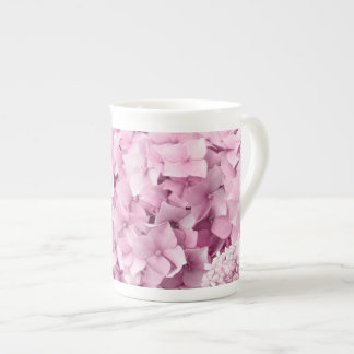 Taza De Té Collage del pastel del Hydrangea de la flor de la