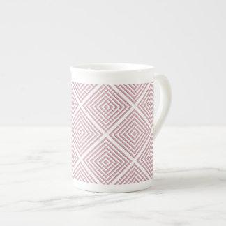 Taza De Té Cuadrados geométricos rosados