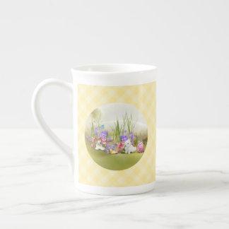 Taza de té de los conejitos de pascua