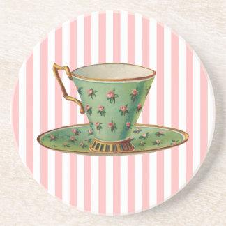 Taza de té del vintage posavasos diseño