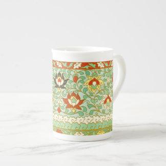 Taza De Té Diseño del chino de la flor de Lotus