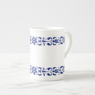 Taza De Té Diseño ornamental azul romano del siglo XVI