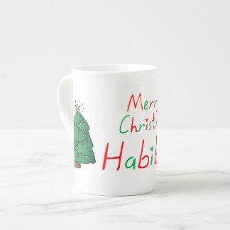 Taza De Té Felices Navidad Habibti