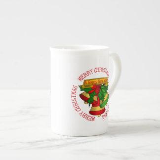Taza De Té Felices Navidad verdes Belces del rojo el |
